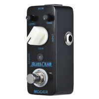 MOOER BLUES CRAB Blues Overdrive Guitar Effect Pedal True Bypass Full Metal T1O4
