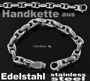 unisex Massiver Edelstahl Armband HandKette hand bracket sehr schön!