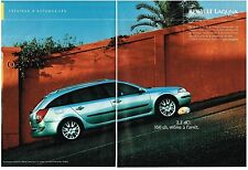 PUBLICITE ADVERTISING  2002      RENAULT    La LAGUNA ESTATE 2.2 DCI  (2 pages)