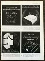 1936 Mohawk Percale Sheets Print Ad In New Laundry Saving Package
