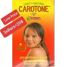 Carotone 3 Bars Soap Brightening Skin Light Natural 6.7Oz 190gr /Select Pack