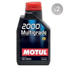 Motul 2000 Multigrade 20W-50 Mineral Car Engine Oil - 2 x 1 Litre 2L