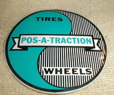 "BUPos-A-Traction Tires Wheels Vintage Vinyl Self Adhesive Decal 2 7/8"" X 2 7/8"""