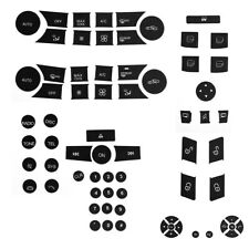 5PCS Repair Steering/AC/Window/Radio Button Stickers Package FIT 2007-2014 Benz