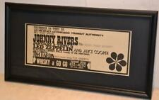 Led Zeppelin 1968 Whisky W/ Jimmy Page Of Yardbirds Concert Framed Concert Ad