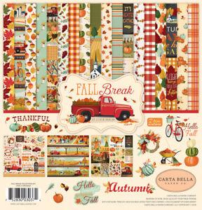 Carta Bella FALL BREAK 12x12 Collection Kit Scrapbook Autumn Family Home fs