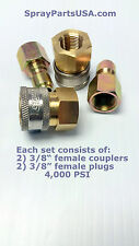 """3/8"""" Quick Connect Fittings for Pressure Washer Hose 2 Sets Save Big"""