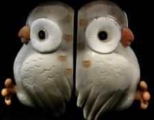 Retro 1980's Fitz and Floyd Owl Porcelain Bookends