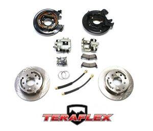 TeraFlex Rear Disc Brake Conversion Kit w/ Rotors For 91-06 Jeep TJ LJ YJ XJ