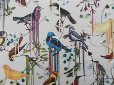 Designers Guild Curtain Fabric BIRDS SINFONIA 2.5 METRES Jonc CHRISTIAN LACROIX
