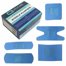 Qualicare Sterile Hypo-Allergenic Blue Catering Assorted Plasters 5 Sizes x100