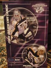 Nashville Predators 2001-02 Media Guide Hockey Rules Kimmo Timonen Olympian