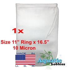 "1x Filter Bag 11"" x 16.5"" 10 Micron Felt Polypropylene Quality Made in USA"