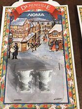 Vintage Christmas Village Dickensville Noma White Planter Urn Accessories New