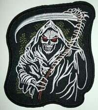 "4"" Motorcycle Biker-Son of anarchy Grim Reaper Embroidered Iron On/Sew On Patch"