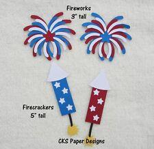 Die Cut FIREWORKS & FIRECRACKERS July 4th Scrapbook Embellishment Paper Piecing