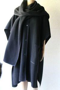 COS Navy blue wool blend convertible jacket sz one size