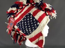 Red White Blue team USA american flag mohawk ski trapper hat winter olympics