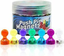 56 Colorful Push Pin Magnets 7 Assorted Color Strong Magnetic Push Pins