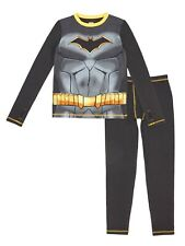 Cuddle Duds Batman Warm Underwear Long Sleeve Top & Pants LARGE (10-12) NEW
