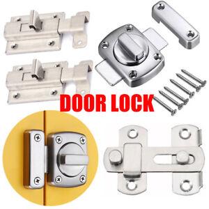Toilet Shed Door Lock/Catch Slide Bolt Bathroom Bedroom Latch Turn Rotate Pull