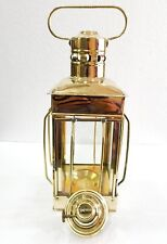 "12"" Vintage Stable Gold Brass Lantern Oil Lamp Wall Hanging Home Decor"