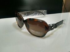 $ 44 Womens Nine West Sunglasses Brown Tortoise With Chain Detail Sides