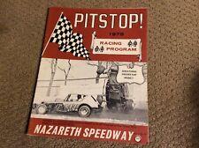 1975 NAZARETH SPEEDWAY PITSTOP PROGRAM Vol.1 No.5