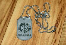 Metal Gear Solid Peace Walker Rare Promo Dog Tag Necklace PSP PS3 Xbox 360