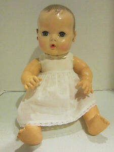 "Vintage hard plastic & rubber Effanbee 15"" Dy DEE Baby very nice body & face"