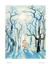 Moomin Poster Too Ticky and Moomin Troll in the Winter Forest 24 x 30 cm