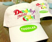 "(12) ""DADDY'S FISHIN GIRL"" Child and Toddler Fishing Cap Adjustable"