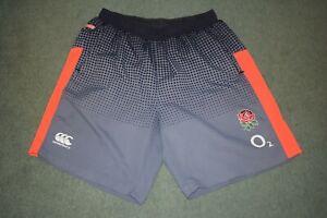 Canterbury Mens England Rugby Gym Shorts 02 grey vapodri