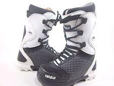 THIRTY TWO MEN'S LASHED SNOWBOARDING BOOTS,BLACK/WHITE/BLACK US SIZE 5,EUR 37