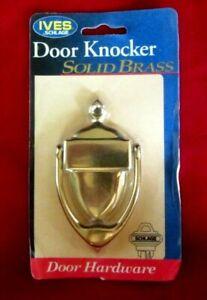 IVES SCHLAGE SOLID BRASS DOOR KNOCKER--EXTERIOR/INTERIOR--BRAND NEW