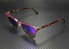 RAY BAN Clubmaster RB3016 1222C2 Metalic Dk Bronze Lt Grey Mirr 51 mm Sunglasses