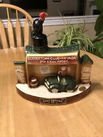 Vintage 70s Ezra Brooks Bourbon Whiskey Decanter Bordertown Club Nevada Buzzard