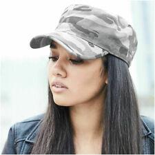 Womens Mens Camouflage Army Hat Camo Military Cadet Combat Fishing Baseball Cap