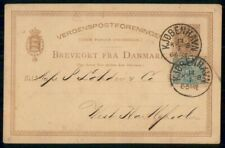 Mayfairstamps Denmark 1890s Copenhagen to West Hartlepool Uprated Stationery Car