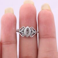 Valentine Day Gift Handmade Solid Sterling Silver Jewelry Moonstone Ring Size 9