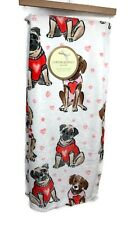 Cynthia Rowley Valentine's Dogs Love Hearts Sweaters Oversized Throw Blanket