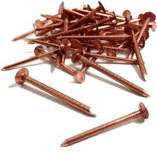 25 COPPER CLOUT ROOFING NAILS TREE STUMP REMOVAL DIY 50MM LONG EASY USE TRADE UK