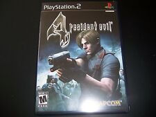 Replacement Case (NO GAME) Resident Evil 4 Sony PS2 Playstation 2 100% Original