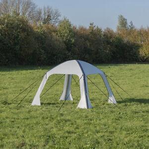 Pavillon aufblasbar 365x365cm - 300D Luftzelt Camping Dachzelt Faltbar P367828