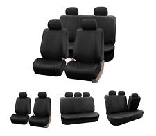 Mirada De Cuero Negro Cubiertas de Asiento de Coche Cubierta Para Toyota Auris Deportes Estate 2013 en