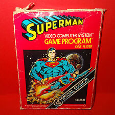 VINTAGE 1979 70s ATARI 2600 SUPERMAN VIDEO COMPUTER SYSTEM GAME CARTRIDGE BOXED