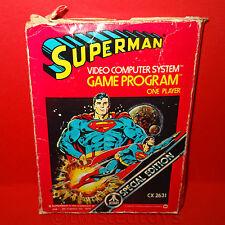 VINTAGE 1979 70s ATARI 2600 SUPERMAN VIDEO COMPUTER SYSTEM GAME CARTRIDGE BOXED