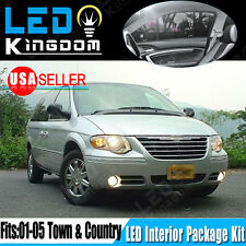 14X Super White LED Lights Interior Package Kit 01-05 For Chrysler Town&Country