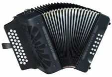 Hohner Compadre Acordeon GCF / SOL 3Row Button Diatonic Accordion - Black + BAG