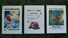THE STONE ROSES POSTER PRINTS A4 SET OF 3